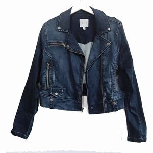 Torrid Denim Moto Jacket, size 1
